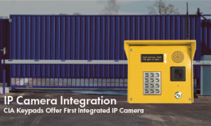Integrated IP Camera Available with INSOMNIAC CIA Access Control