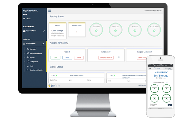 Manage your self storage facility data with our IoE smart storage solutions | OpenTech Alliance, Inc.