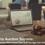 Auction Data on Laptop with Gavel